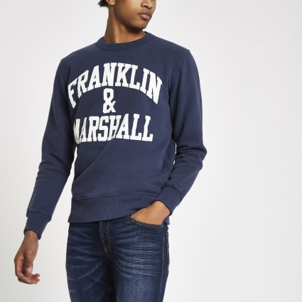 Franklin & Marshall navy logo sweatshirt