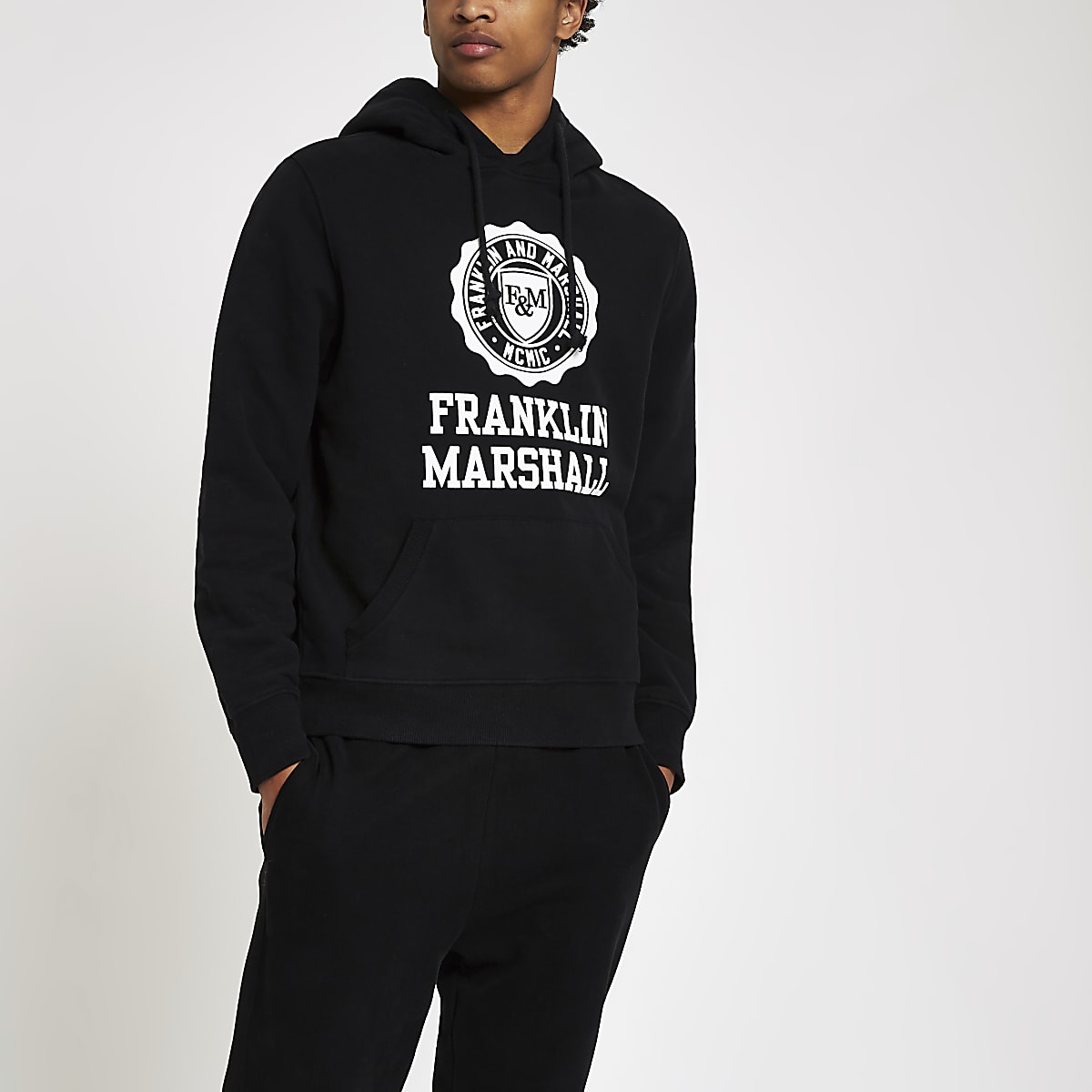 Franklin & Marshall – Sweat à capuche noir