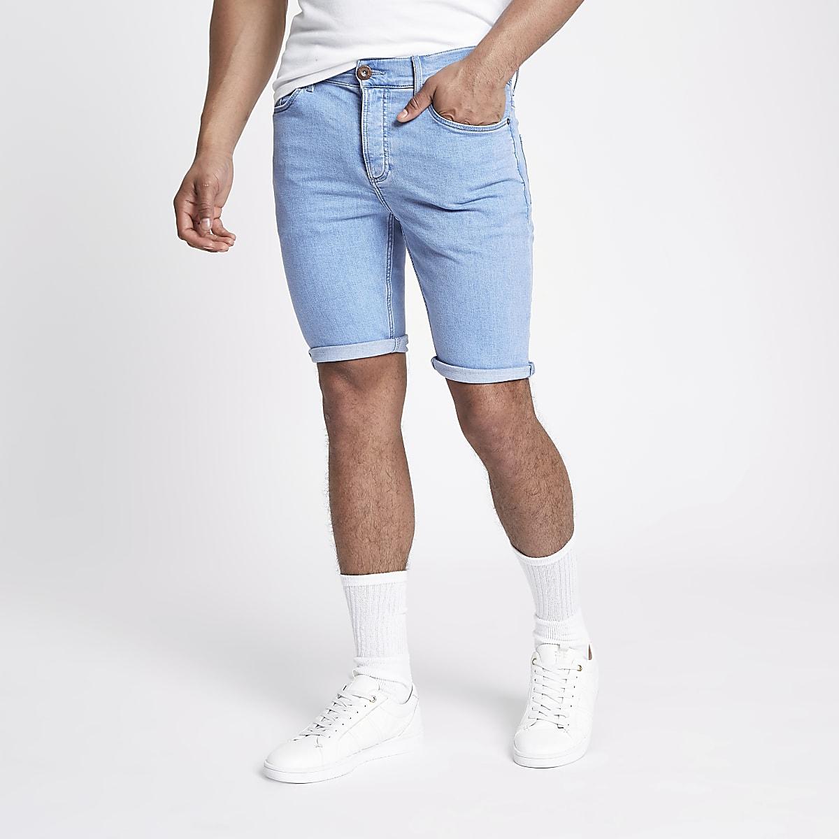 92e7e38e7f Light blue skinny 90s denim shorts - Casual Shorts - Shorts - men