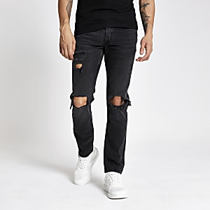 Black Dylan slim fit ripped jeans