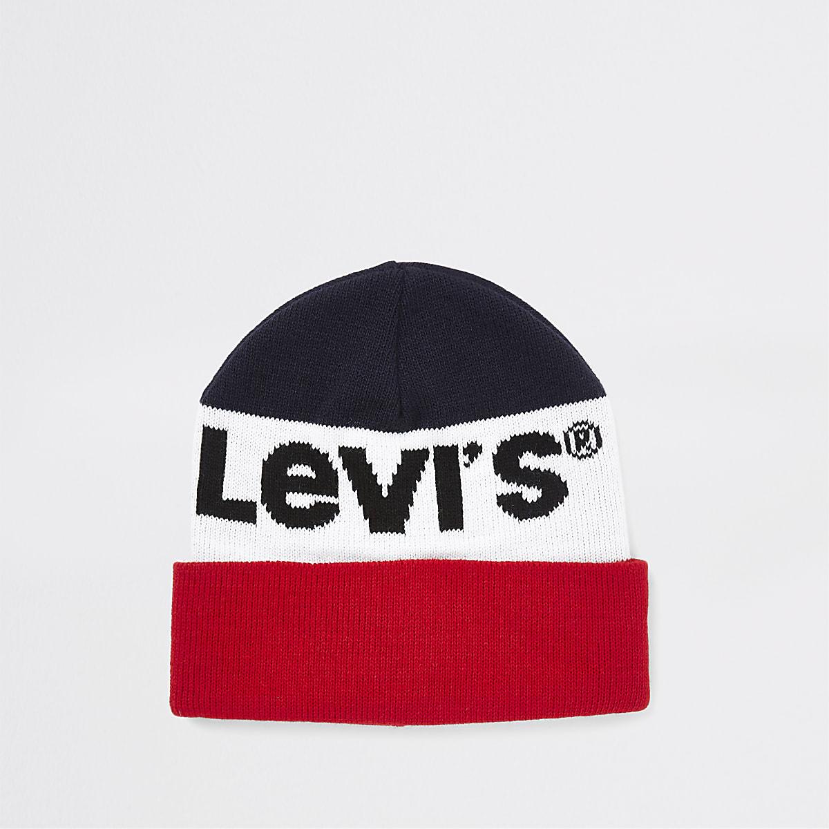 Levi's – Bonnet colour block bleu marine