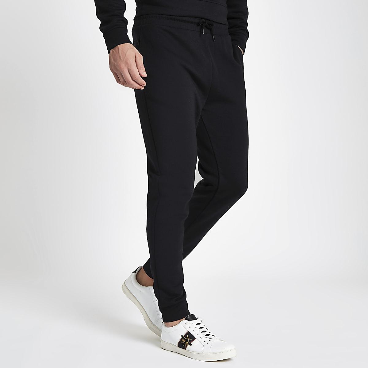Mooie Joggingbroek Heren.Zwarte Slim Fit Joggingbroek Joggingbroeken Heren