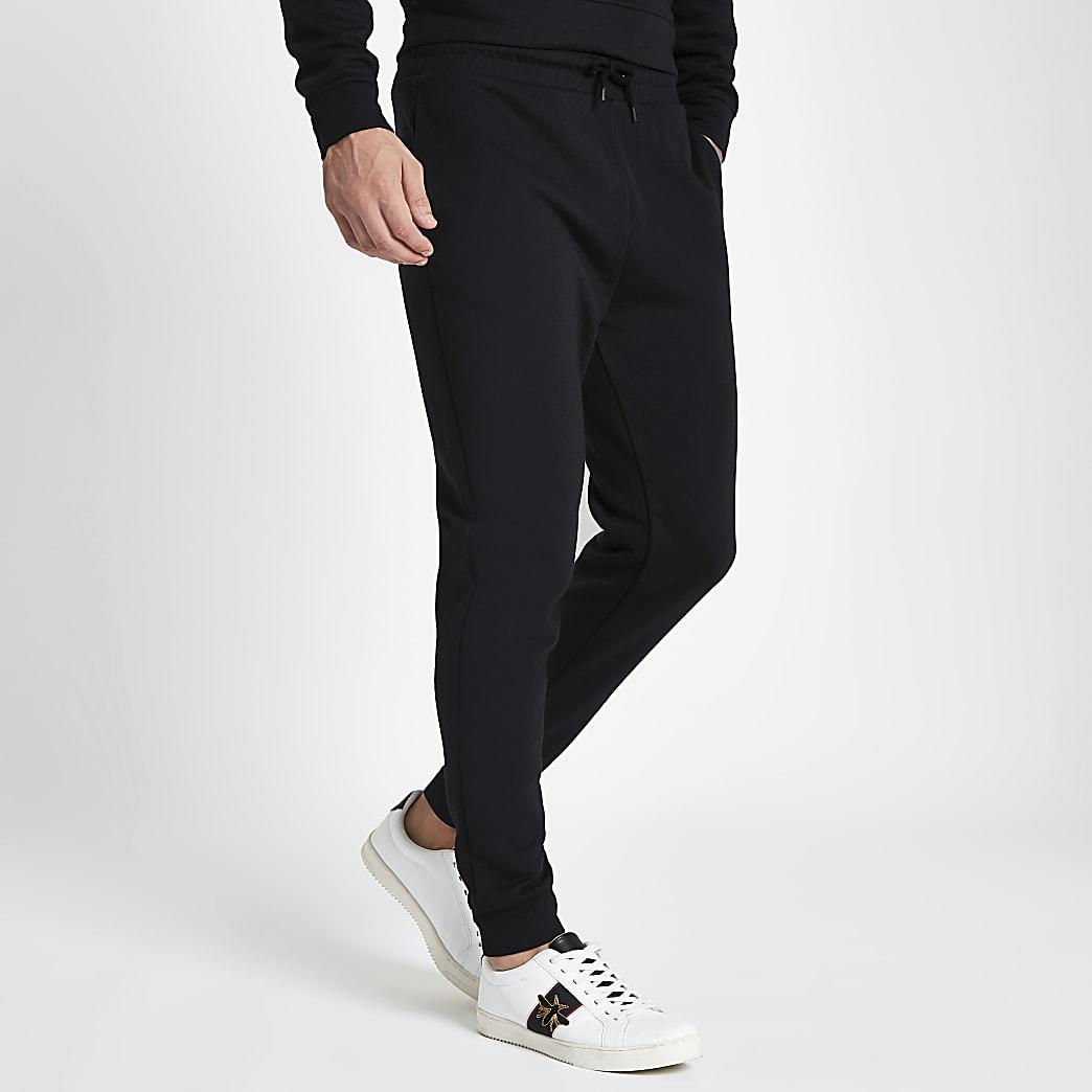 Zwarte slim-fit joggingbroek