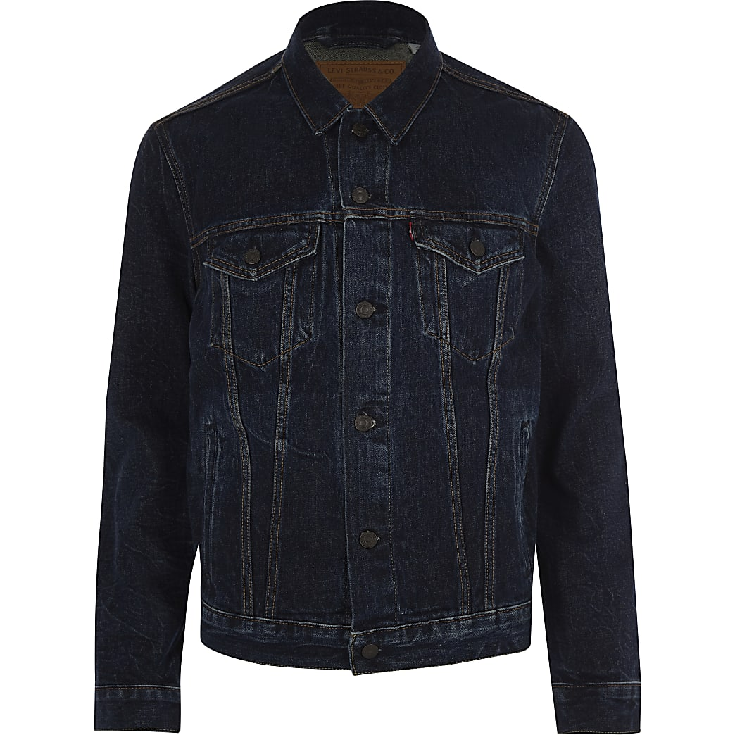 Levi's dark blue denim trucker jacket