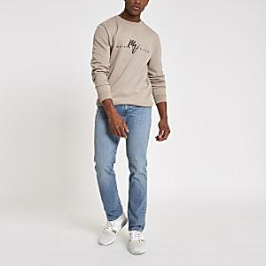 Levi's - Blauwe 511 slim-fit vervaagde jeans