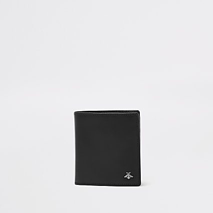 Black wasp embellished fold out wallet