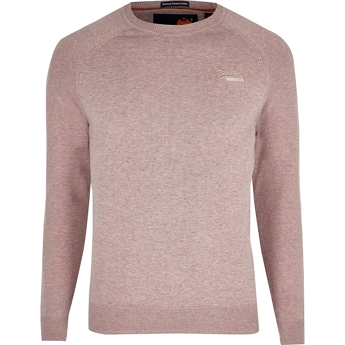 f393a8b989a Superdry pink logo embroidered jumper