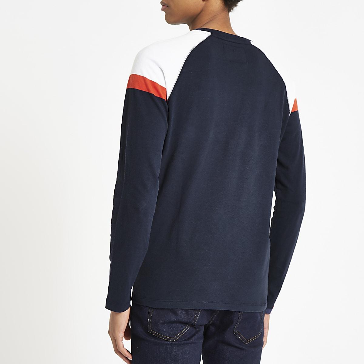 7d62578f7b9 Superdry navy long sleeve T-shirt
