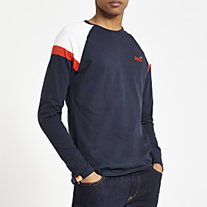 Superdry navy long sleeve T-shirt