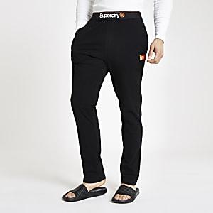 Superdry black loungewear trousers