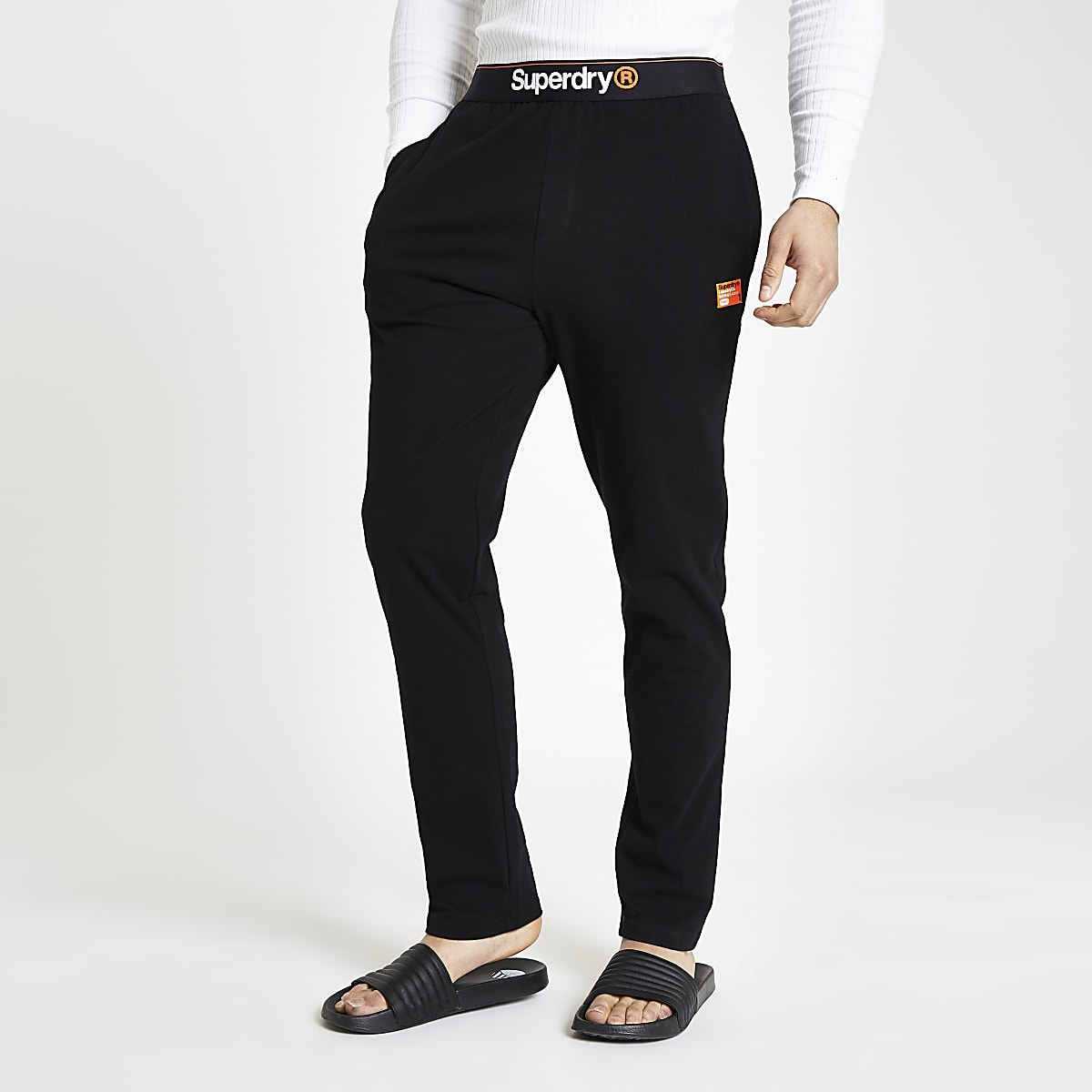 Superdry black loungewear trousers