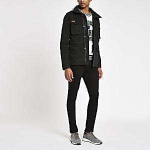 Superdry - Zwart jack in legerlook