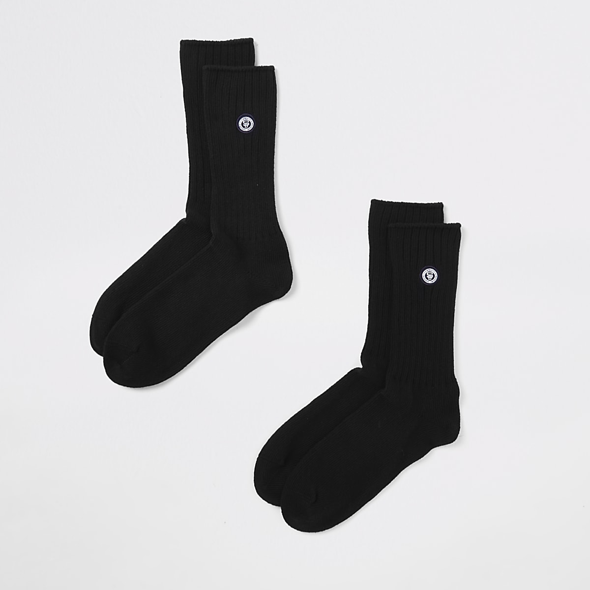 Superdry University black socks 2 pack