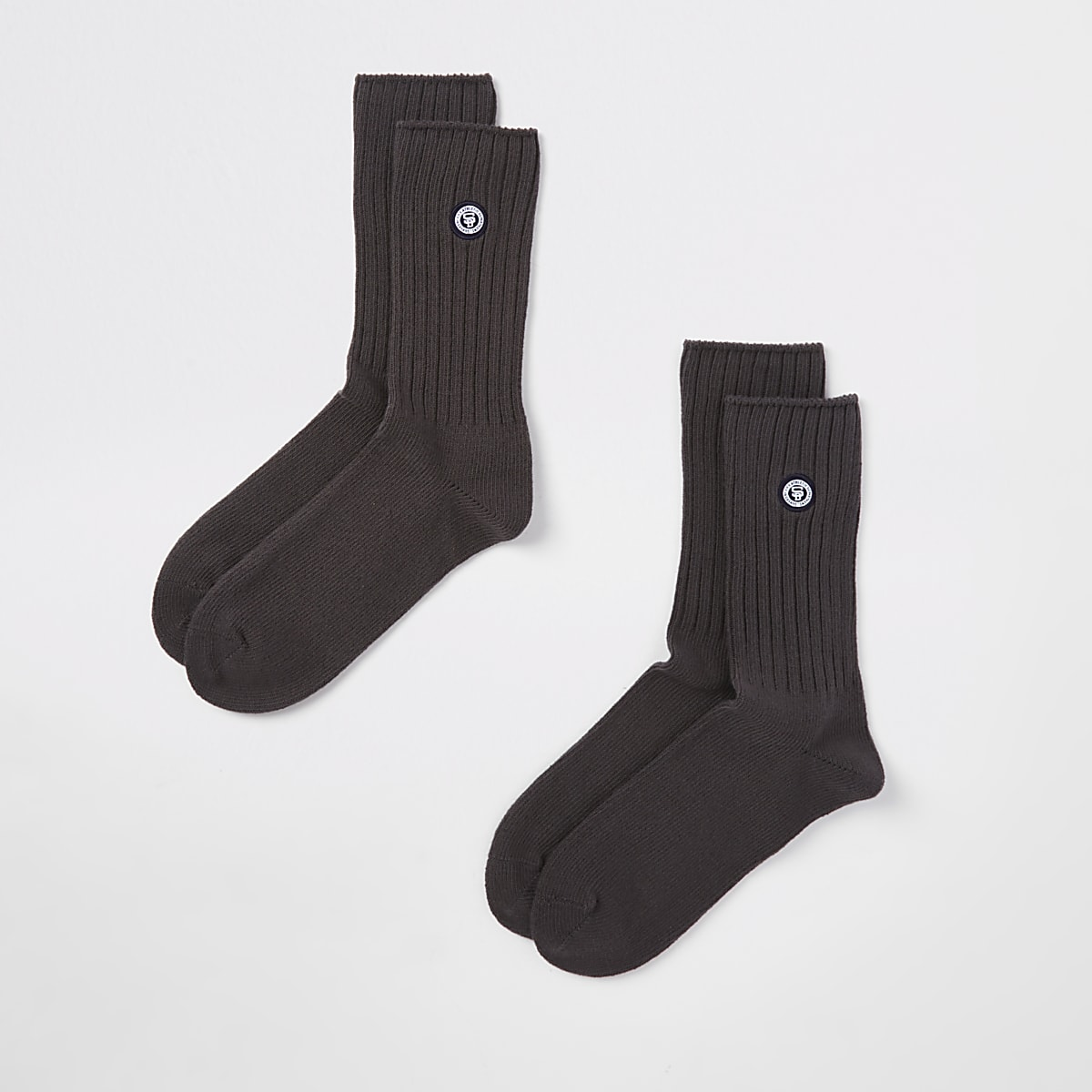 Superdry University grey socks 2 pack