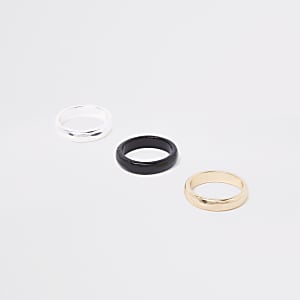 Black polished ring multipack
