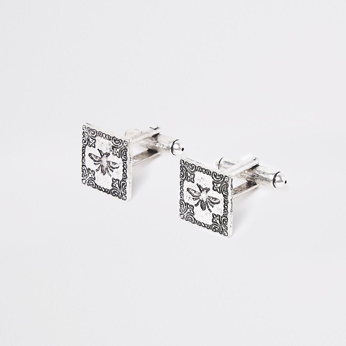 Zilverkleurige manchetknopen