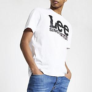 Lee - Wit T-shirt met logoprint