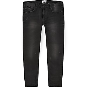 Only & Sons - Big and Tall - Zwarte skinny jeans