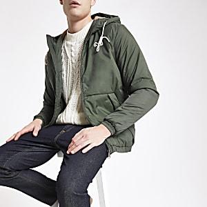 Jack & Jones khaki hooded parka jacket