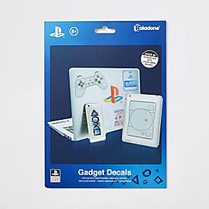 Blue PlayStation gadget decals