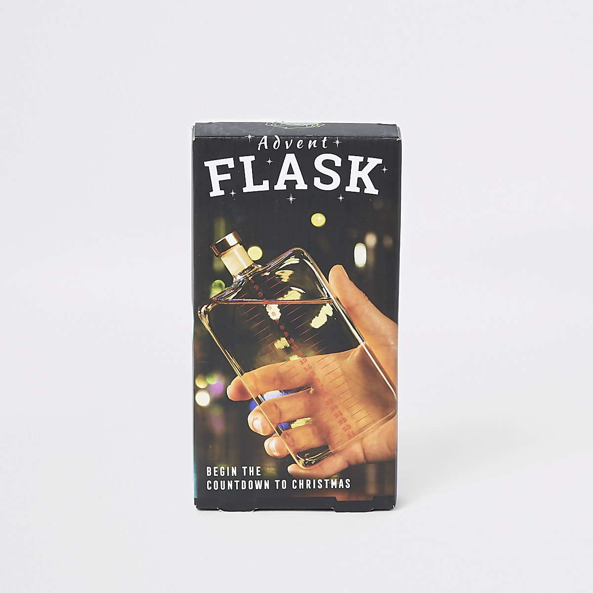 Clear advent calendar flask