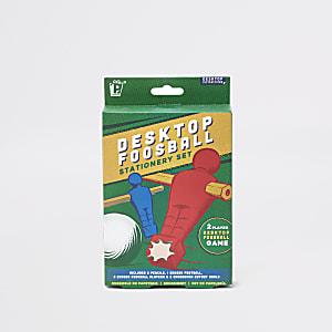 Green desktop foosball stationary set