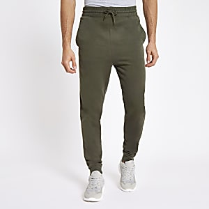 Khaki slim fit joggers