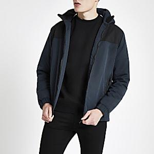Jack & Jones navy zip up jacket