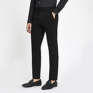 Black super skinny fit suit pants