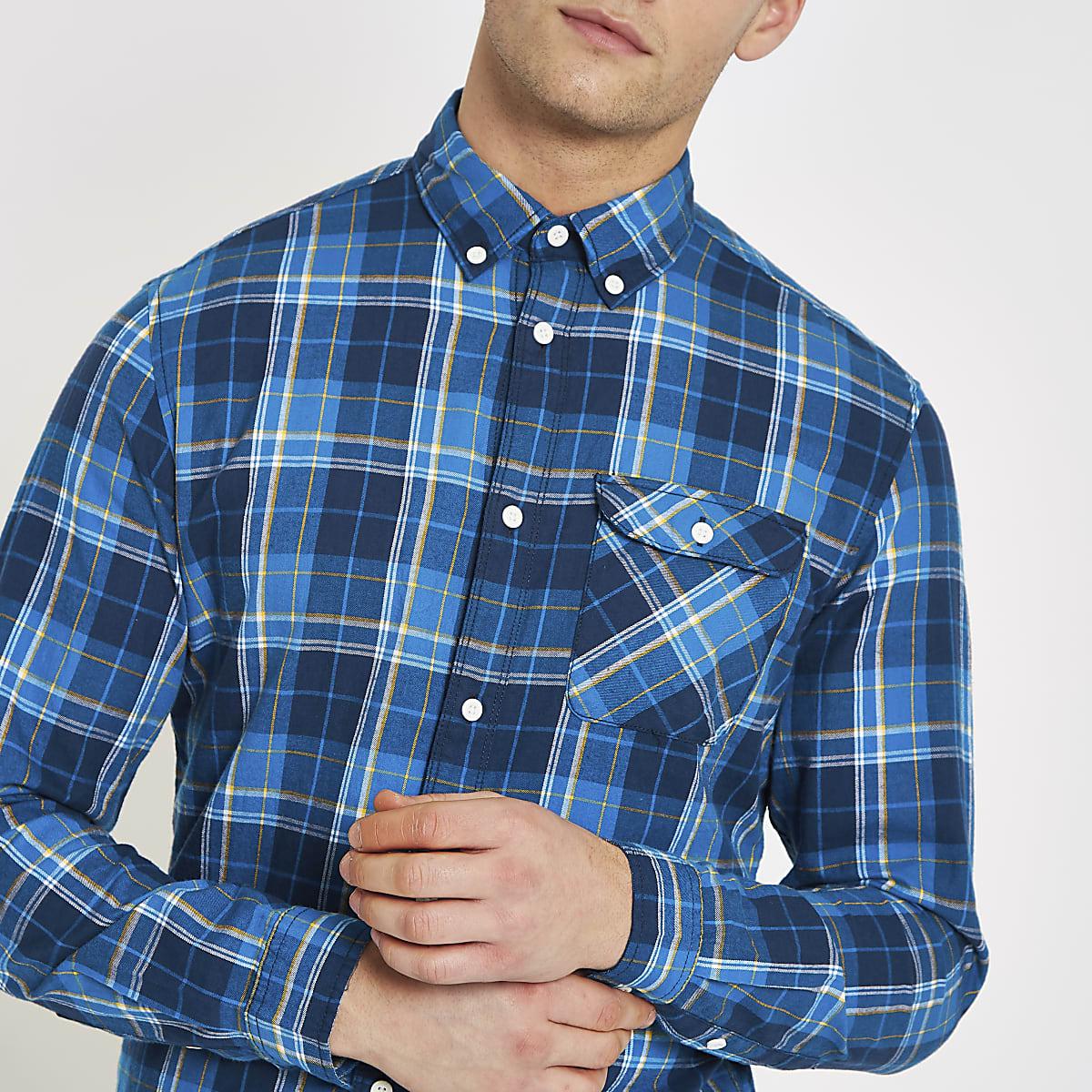 Jack & Jones blue check shirt