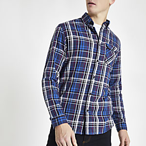 Jack & Jones – Chemise à carreaux rouge