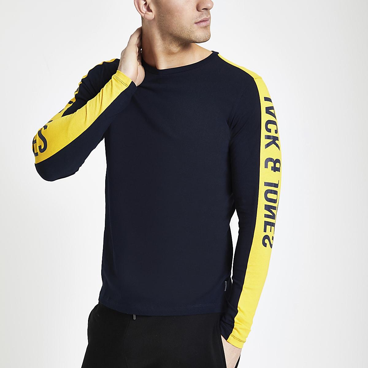 Jack & Jones navy tape sweatshirt