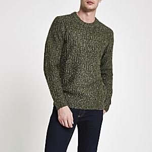 Pepe Jeans – Grüner Strickpullover