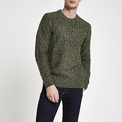 Pepe Jeans green knitted jumper