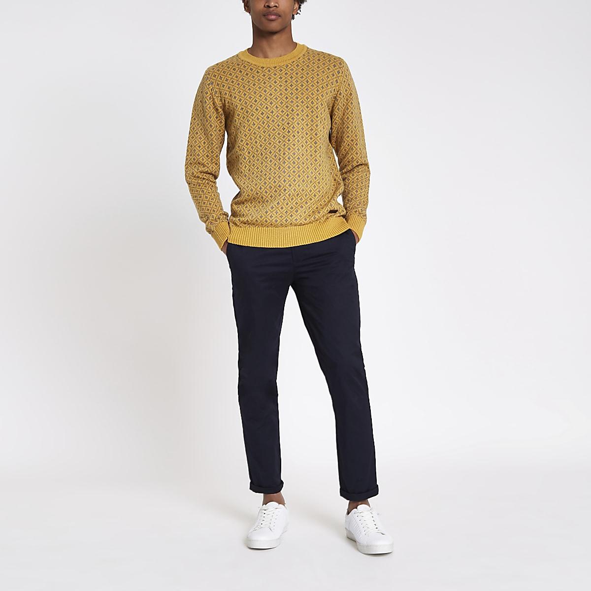 Pepe Jeans – Gelber, bedruckter Pullover