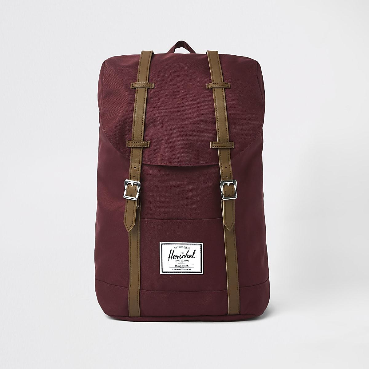 Herschel red retreat backpack