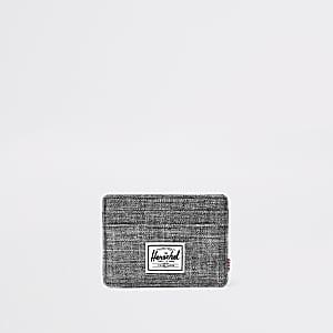 Herschel – Charlie – Porte-cartes gris texturé
