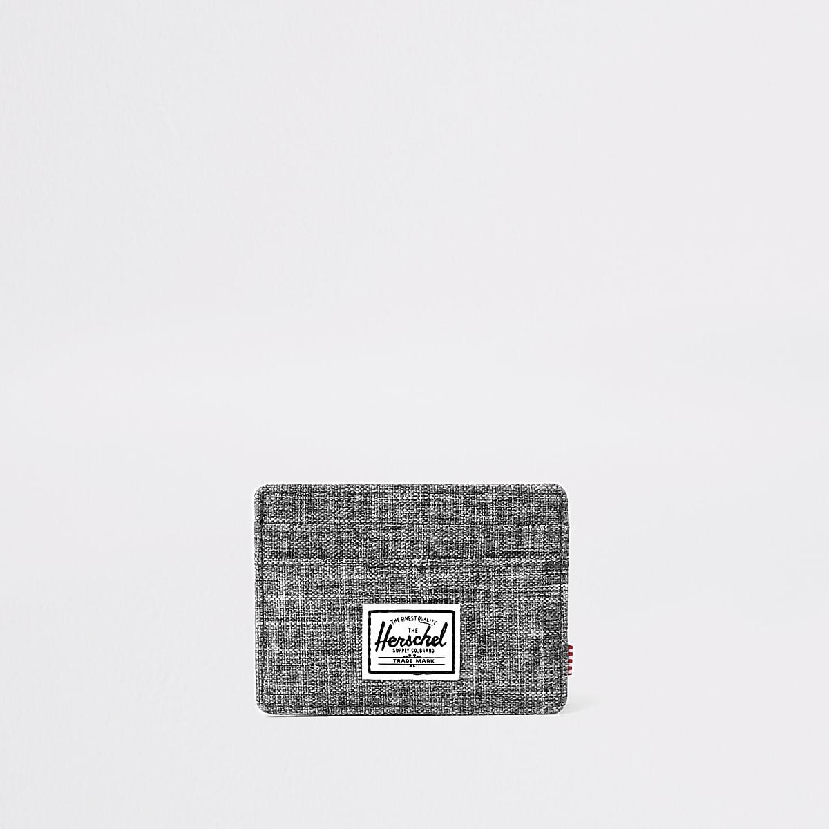 Herschel grey Charlie crosshatch cardholder