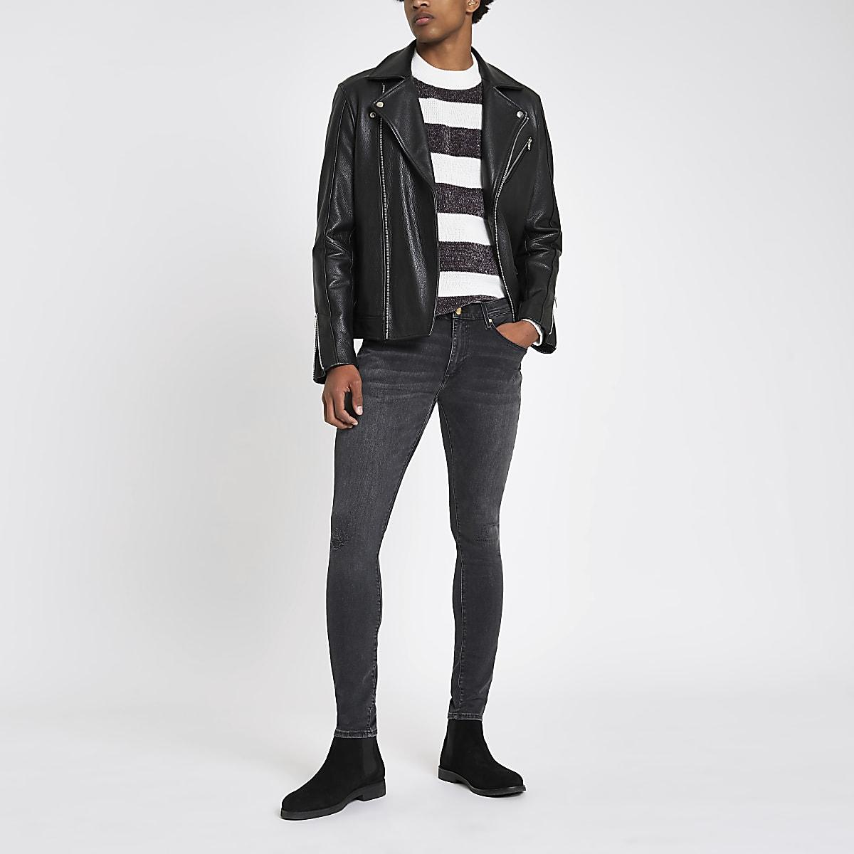 Black Ollie skinny spray on jeans