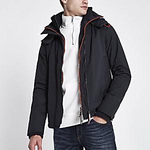 Superdry navy triple zip funnel neck jacket