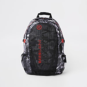 Superdry black mesh backpack