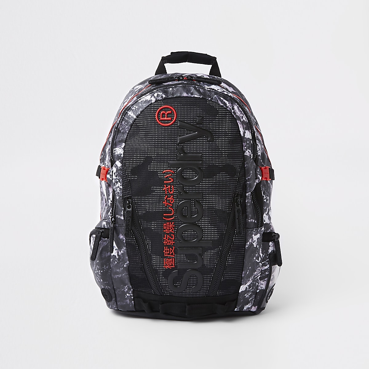 100% authentic e0eb0 1e917 Superdry black mesh backpack