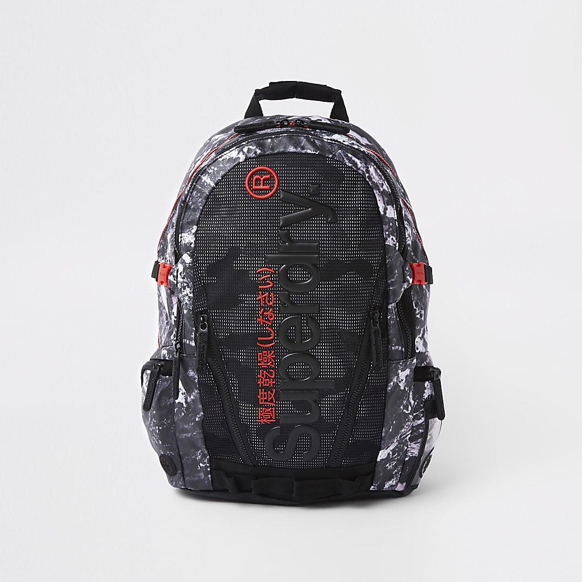 Superdry black mesh backpack