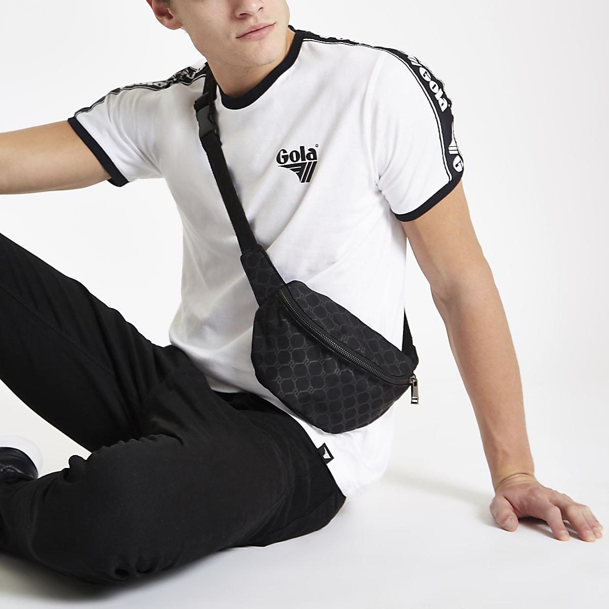 Gola white tipped crew neck T-shirt