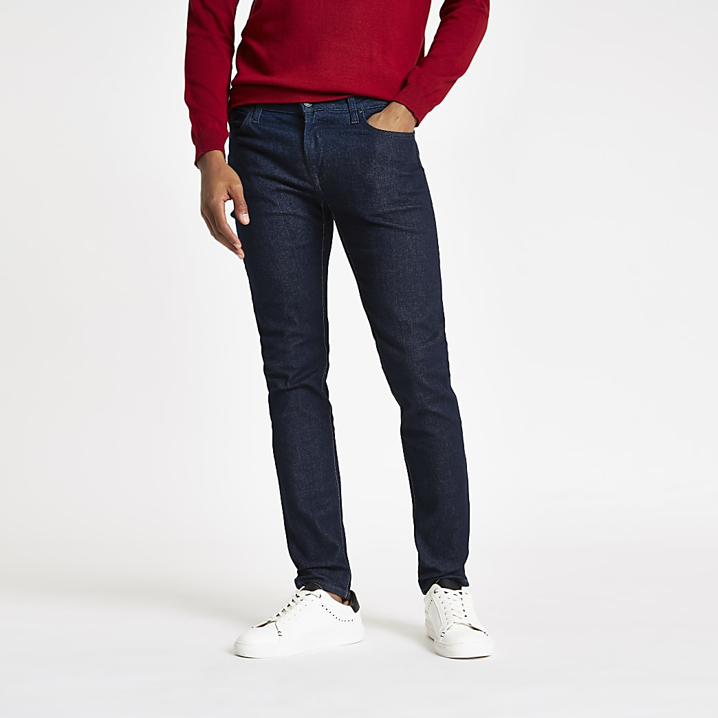 Lee - Malone - Blauwe skinny-fit jeans