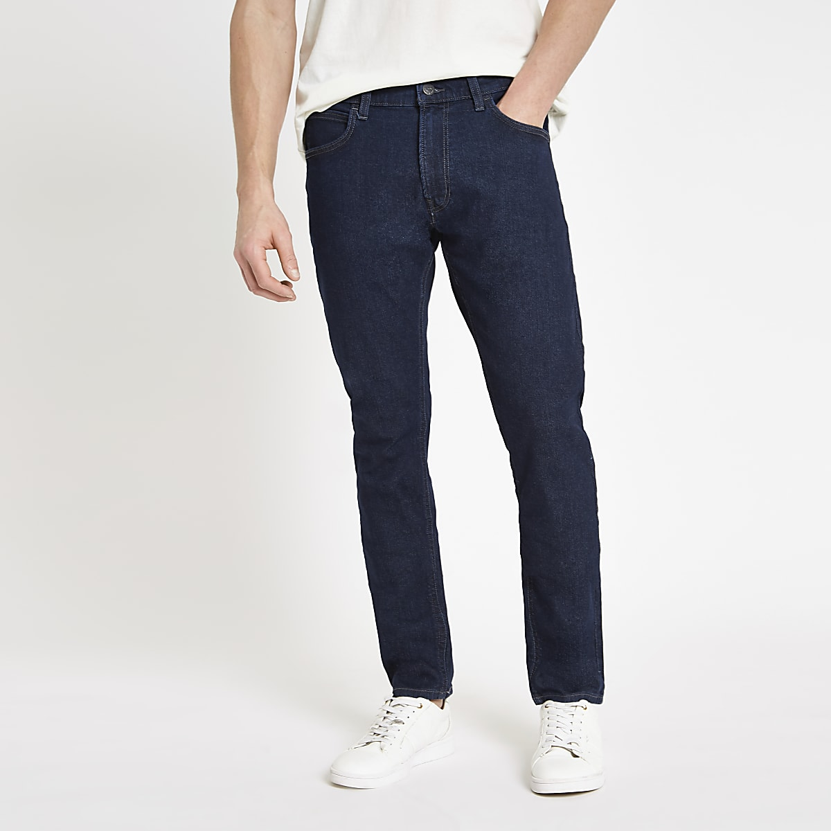 9789a200 Lee blue tapered slim fit jeans - Tapered Jeans - Jeans - men