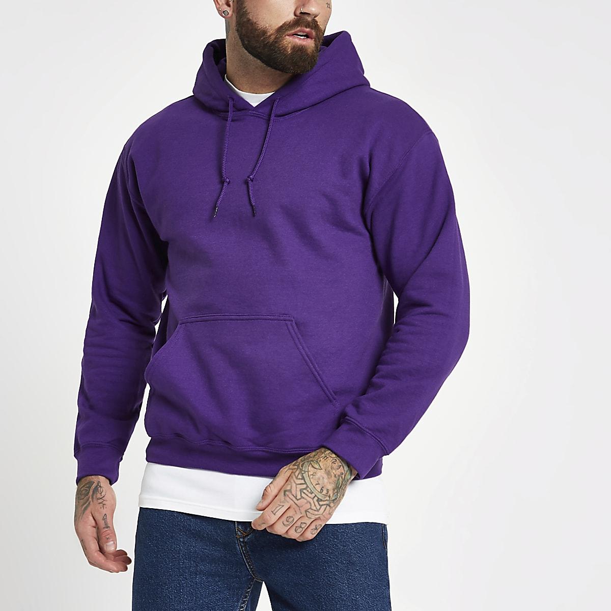Purple long sleeve hoodie