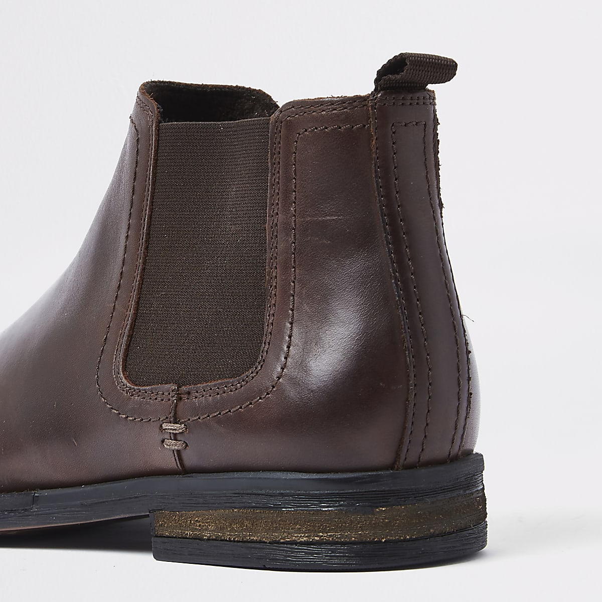 2277f2388a5 Dark brown leather Chelsea boots
