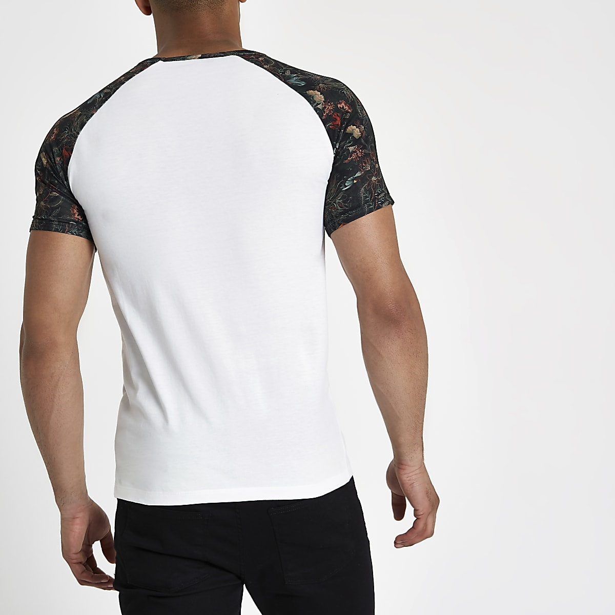b3c88394 White 'paradise' muscle fit raglan T-shirt - T-shirts - T-Shirts ...
