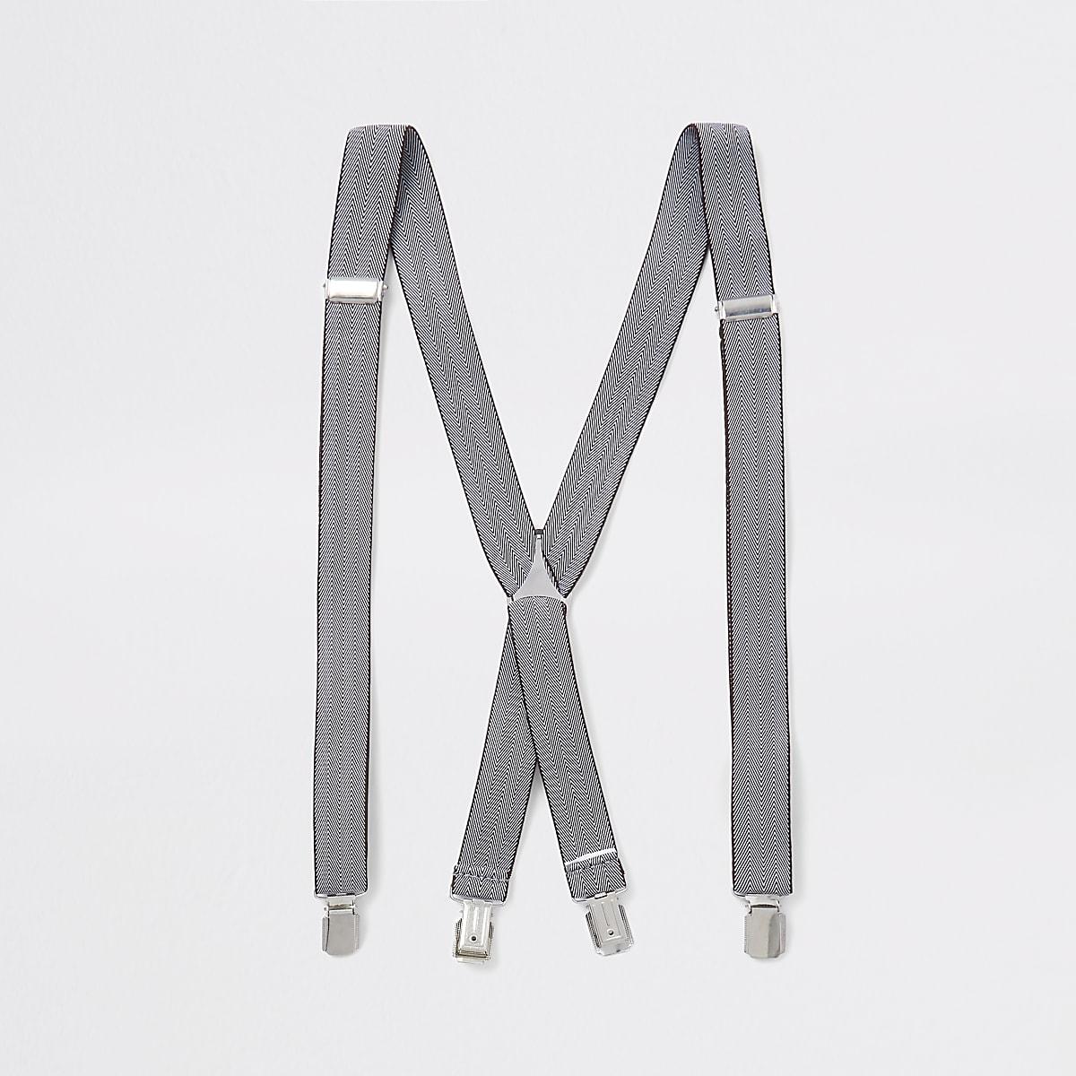 Brown printed belt braces